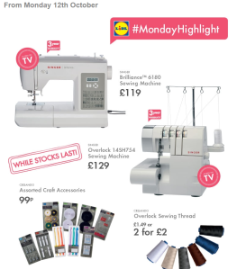 Lidl sewing machine and overlocker offer