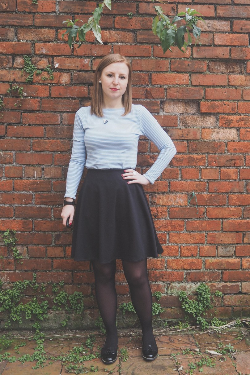 Grainline Studio Lark Tee and Seamwork Margo Circle Skirt